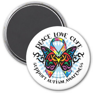 Autism Butterfly Tribal 2 Magnet
