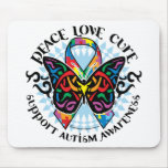 Autism Butterfly Tribal 2 Mouse Pad