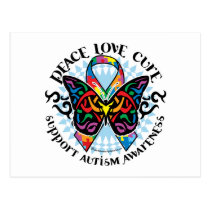 Autism Butterfly Tribal 2 Postcard
