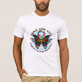 Autism Butterfly Tribal 2 T-Shirt