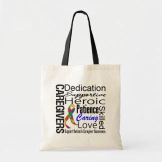 Autism Caregivers Collage Budget Tote Bag