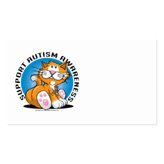 Autism Cat Business Card Template