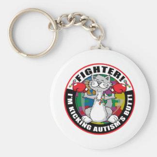 Autism Cat Fighter Keychain