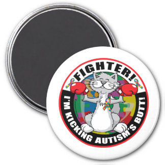 Autism Cat Fighter Magnet