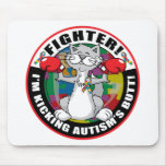 Autism Cat Fighter Mouse Pad