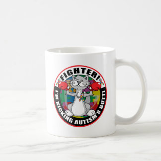 Autism Cat Fighter Coffee Mugs