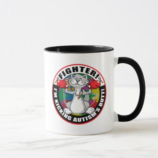 Autism Cat Fighter Mug