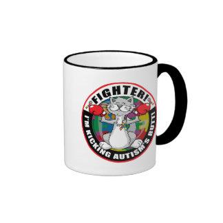 Autism Cat Fighter Coffee Mug