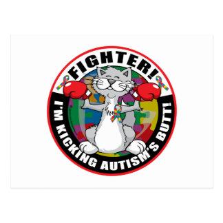 Autism Cat Fighter Postcard