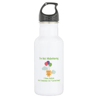 Autism Cat Stainless Steel Water Bottle