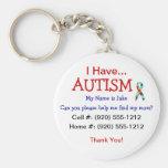 Autism Child ID Zipper Pull (Changeble Text) Basic Round Button Keychain
