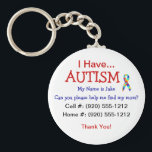 """Autism Child ID Zipper Pull (Changeble Text) Keychain<br><div class=""""desc"""">Fully Customizable Text, Font and Color Options If you have a child with Autism you know the threat of your child running or wandering away and become lost is a reality. Safegaurd yourself by getting your child back in touch with you as quickly as possible. This simple, but effective keychain...</div>"""