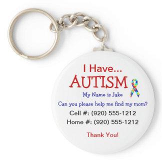 Autism Child ID Zipper Pull (Changeble Text) Keychain