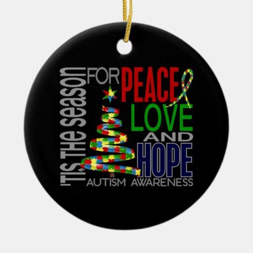 Autism Christmas 1 Ornaments