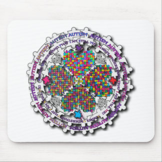 Autism Circular Puzzle Mouse Pad