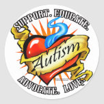 Autism Classic Heart Tattoo Stickers