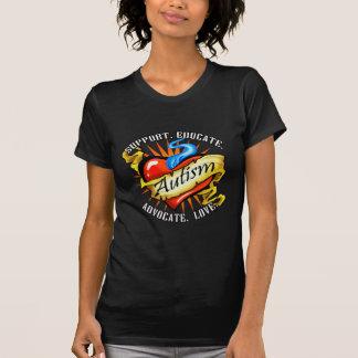 Autism Classic Heart Tattoo T-Shirt