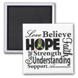 Autism Collage of Hope 2 Inch Square Magnet