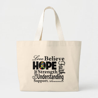 Autism Collage of Hope Large Tote Bag