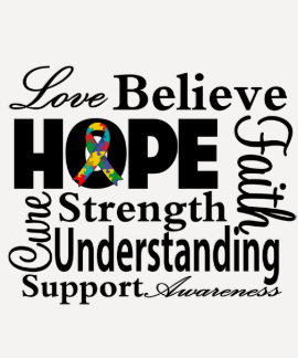 Autism Collage of Hope Shirt