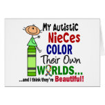 Autism COLOR THEIR OWN WORLDS Autistic Nieces Greeting Card