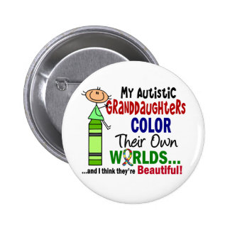 Autism COLOR THEIR OWN WORLDS Granddaughters Pin