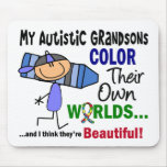 Autism COLOR THEIR OWN WORLDS Grandsons Mouse Pads