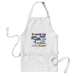 Autism COLOR THEIR OWN WORLDS Sons Adult Apron