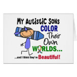 Autism COLOR THEIR OWN WORLDS Sons Cards