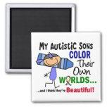 Autism COLOR THEIR OWN WORLDS Sons Fridge Magnets