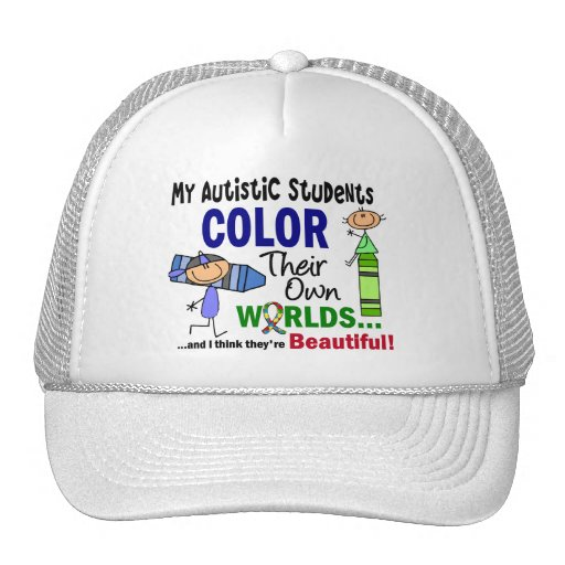 Autism COLOR THEIR OWN WORLDS Students Hat