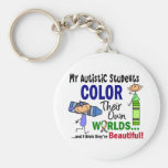 Autism COLOR THEIR OWN WORLDS Students Key Chain
