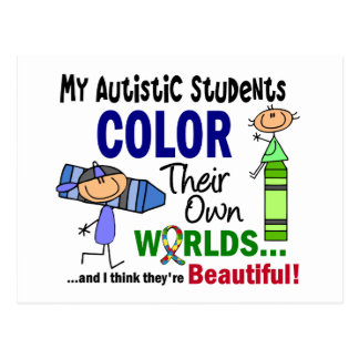 Autism COLOR THEIR OWN WORLDS Students Post Card