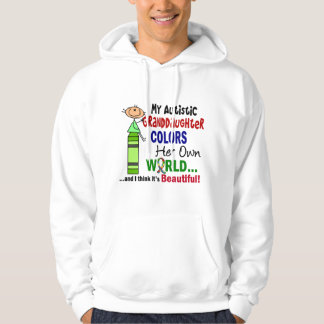 Autism COLORS HER OWN WORLD Granddaughter Hoodie