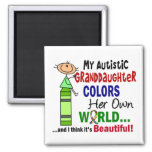 Autism COLORS HER OWN WORLD Granddaughter Refrigerator Magnets