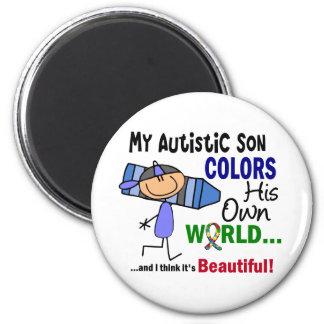 Autism COLORS HIS OWN WORLD Son Magnet