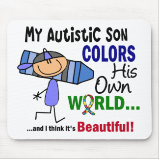 Autism COLORS HIS OWN WORLD Son Mouse Pad