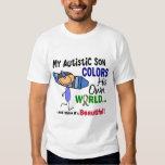 Autism COLORS HIS OWN WORLD Son Tee Shirt