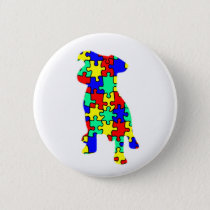 Autism Companion Dog Button