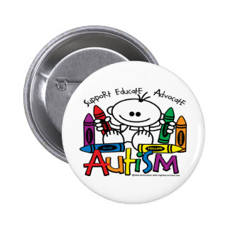 Autism Crayons 2 Inch Round Button