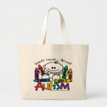 Autism Crayons Large Tote Bag