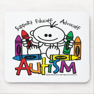 Autism Crayons Mouse Pad