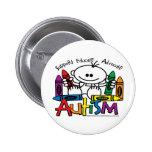 Autism Crayons Pinback Buttons