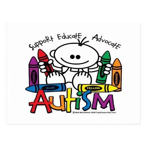 Autism Crayons Postcard