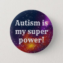 Autism Customizable Galaxy Identity Pinback Button