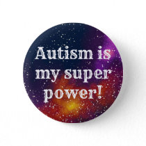 Autism Customizable Galaxy Identity Pinback Button
