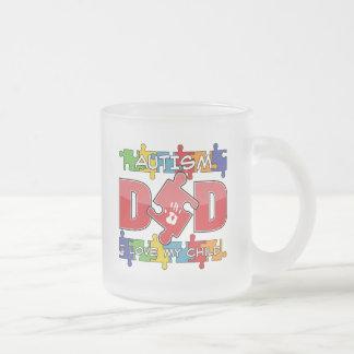 Autism Dad - I Love My Child 10 Oz Frosted Glass Coffee Mug
