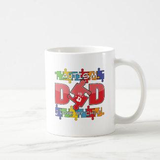 Autism Dad - I Love My Child Classic White Coffee Mug