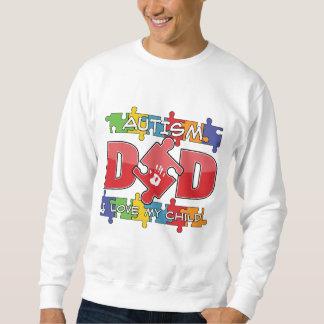 Autism Dad - I Love My Child Pullover Sweatshirts