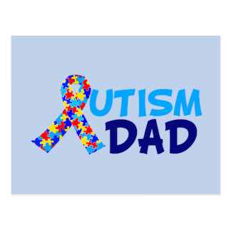 Autism Dad Postcard